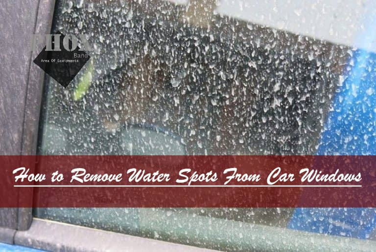 how to remove water stains from glass